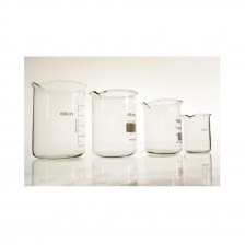 Becker de Vidro (Embalagem com 5 Unidades)